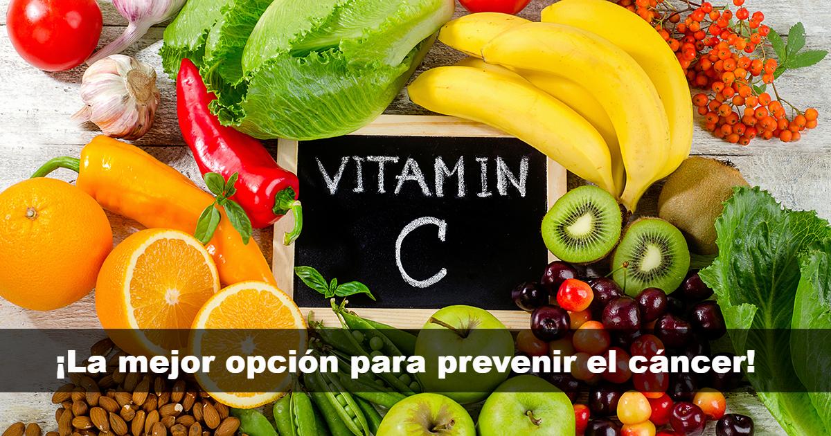 La vitamina C ayuda a prevenir el cáncer