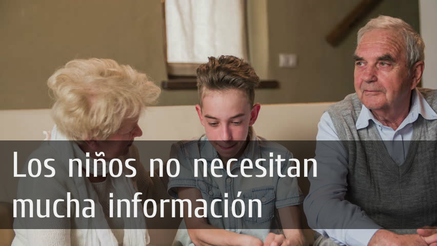 informar a niños que padres padecen cáncer